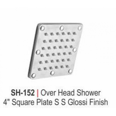 """OVER HEAD SHOWER 4"""" SQUARE PLATE S S GLOSSY FINISH"""