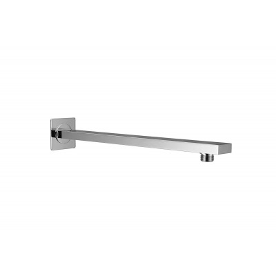 """Shower Arm Rectangle 18"""" with Flange Brass"""